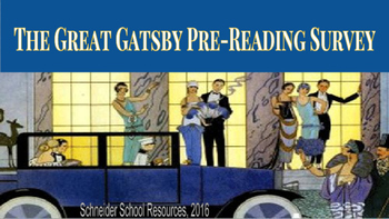 The Great Gatsby Pre-Reading Survey