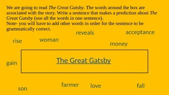 The Great Gatsby Prediction Sentence