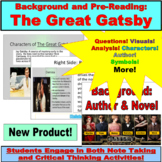 The Great Gatsby Preview, Background, Pre-Reading Question