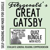 The Great Gatsby Quiz Bundle - Set of 9 (Word Docs, Google Docs & PDFs)