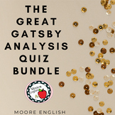 The Great Gatsby Quizzes (4 quizzes, 50+ questions, 35+ pa