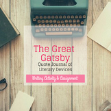 The Great Gatsby Quote Journal of Literary Devices