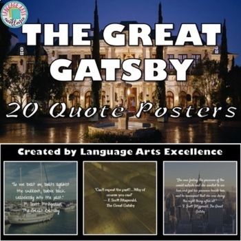 The Great Gatsby Quote Posters