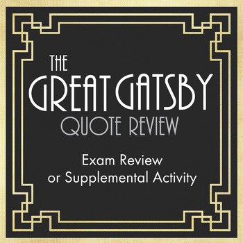 The Great Gatsby Quote Race – Great End-of-Unit Game for Fitzgerald's Novel