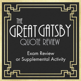 The Great Gatsby Quote Race – Great End-of-Unit Activity, Homework, or Game