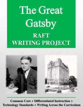 The Great Gatsby RAFT Writing Project