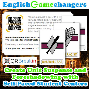 The Great Gatsby REVERSE Escape Room! Break IN to a New Unit with QR Codes!