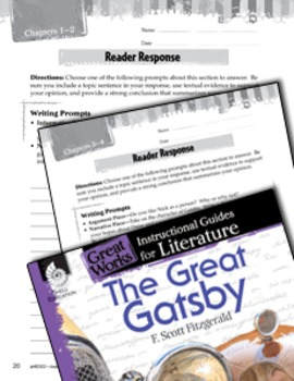 The Great Gatsby Reader Response Writing Prompts