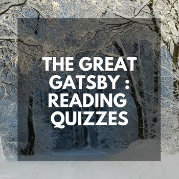 The Great Gatsby: Ready-to-Use READING QUIZZES
