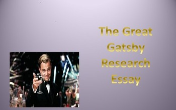 The Great Gatsby Research Essay