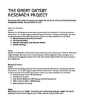 The Great Gatsby Research Project and Essay Prompts
