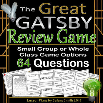 The Great Gatsby Review Game