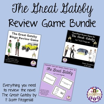 The Great Gatsby Review Game Bundle