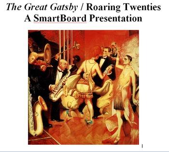 The Great Gatsby / Roaring Twenties SmartBoard Presentation