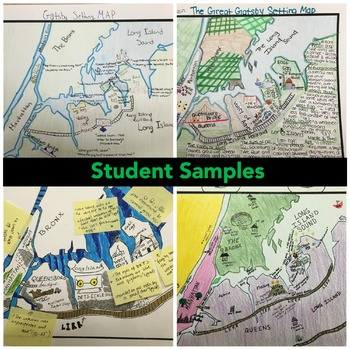 The Great Gatsby Setting Map Project   Includes Worksheet