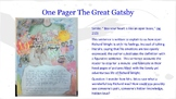 The Great Gatsby Simile One-Pager