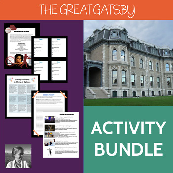 The Great Gatsby Six Activity Bundle, High School ELA