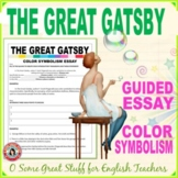 The Great Gatsby Step-By-Step Color Symbolism Essay Activity