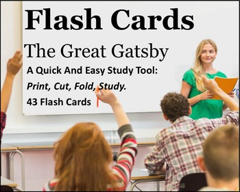 The Great Gatsby Study Flash Cards