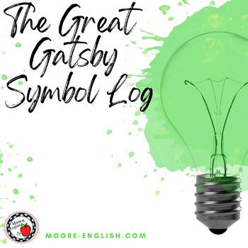 The Great Gatsby Symbol Log By Moore English Teachers Pay Teachers