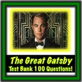 The Great Gatsby Test Bank 100 Questions!