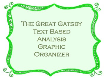 The Great Gatsby Text Analysis Graphic Organizer