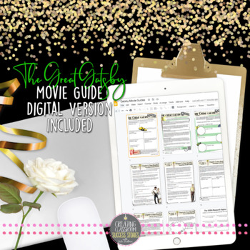 The Great Gatsby: Movie Viewing Guide, Questions, Quiz, Sub Plan, Mini Unit