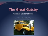 The Great Gatsby Theme, Motif and Chapter Notes PowerPoint