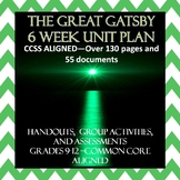The Great Gatsby Unit--Interactive, Engaging, Common Core Aligned