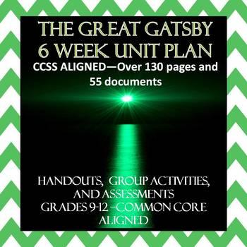 The Great Gatsby Unit (F.Scott Fitzgerald--Interactive & Common Core Aligned