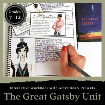 The Great Gatsby Unit: Interactive Workbook