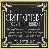 Great Gatsby Unit Plan, FOUR FULL WEEKS of Dynamic Lessons, Great Gatsby, CCSS
