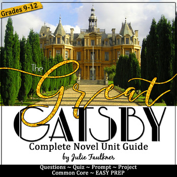 The Great Gatsby Unit Plan, Literature Guide