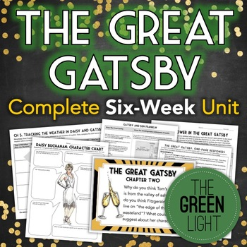 The Great Gatsby Unit Plan: Quizzes, Worksheets, Activities, Projects, Task Card