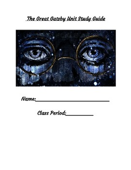 The Great Gatsby Unit Study Guide