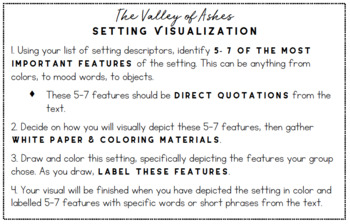 The Great Gatsby - Valley of Ashes Setting Visual