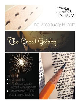 The Great Gatsby Vocabulary Bundle