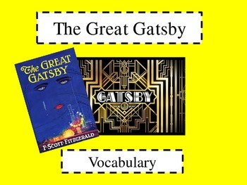 The Great Gatsby Vocabulary Powerpoint