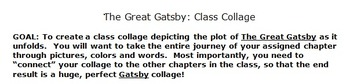 The Great Gatsby Whole Class Collage Project