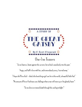 The Great Gatsby Workbook