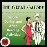 The Great Gatsby--Before, During, and After Reading Activities