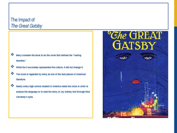 The Great Gatsby analysis powerpoint