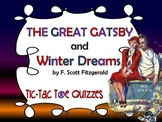 THE GREAT GATSBY AND WINTER DREAMS TIC-TAC-TOE QUIZZES