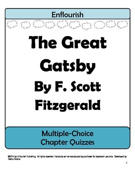 The Great Gatsby by F. Scott Fitzgerald Multiple Choice Chapter Quizzes