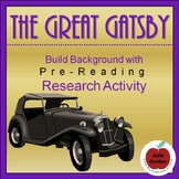 The Great Gatsby--PreReading Research Activity