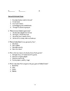 The Great Gatsby unit test