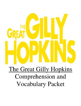 The Great Gilly Hopkins Guided Reading Unit Level S