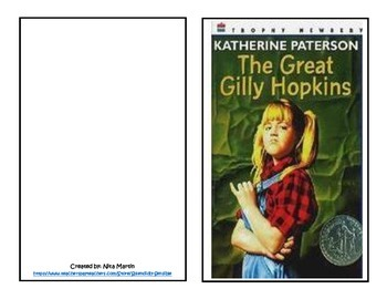 The Great Gilly Hopkins Literature Study Journal