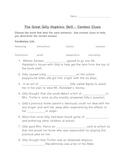 The Great Gilly Hopkins Novel -Context Clue Skill Wksht