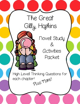 Great gilly hopkins teaching resources teachers pay teachers the great gilly hopkins novel study fandeluxe Choice Image